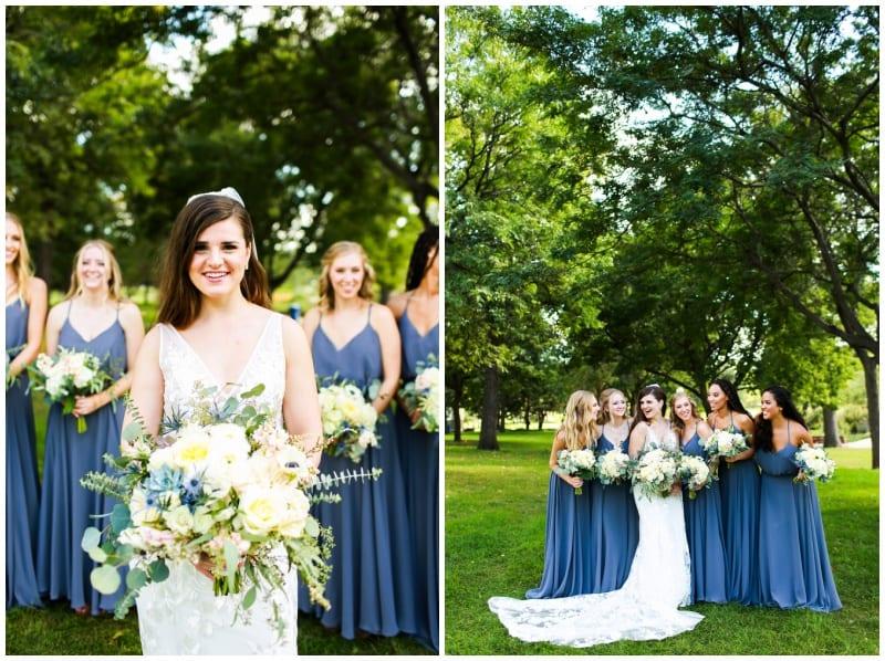 Loring Social, Artemisia Studios, Minneapolis florist, Minneapolis wedding florist, blue wedding, yellow wedding floral, indoor wedding, Minneapolis wedding venues, Hannah Schmitt Photography