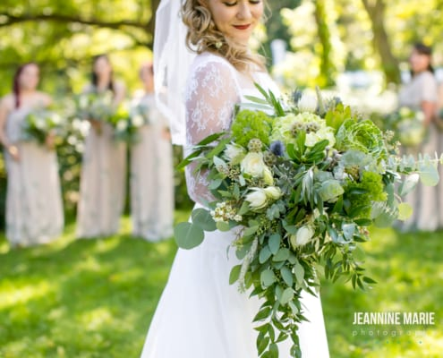 Rustic Wedding Chic, Round Barn Farm, Jeannine Marie Photography, rustic wedding, floral, wedding floral, greenery wedding floral, wedding inspiration, greenery bouquet, vintage wedding dress, country wedding, rustic wedding, country chic wedding, Artemisia Studios, Minneapolis wedding florist, Saint Paul wedding florist
