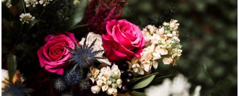Chapel of St. Thomas Aquinas, Town & Country Club, Tandem Tree, hot pink wedding floral, burgundy wedding, burgundy bridesmaids, pink wedding floral, Minnesota wedding florist, Minneapolis wedding florist, Saint Paul wedding florist, Artemisia Studios
