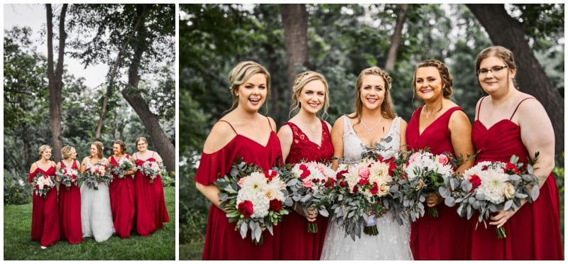 Leopold's Mississippi Gardens, Perry James Photography, red wedding, red flowers, red bouquet, red roses, wedding inspiration, summer wedding, Artemisia Studios, Minneapolis wedding florist, Minnesota wedding florist, donut bar, wedding ideas, Leopold's Mississippi Gardens wedding florist