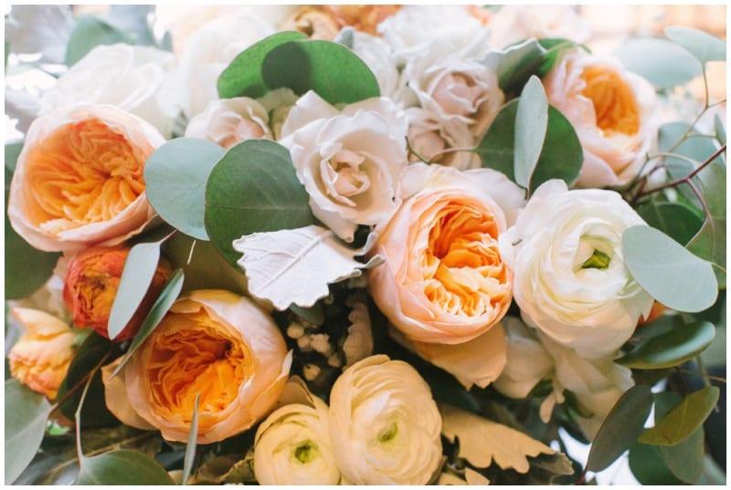 Green Acres Event Center, summer wedding, wedding floral, summer floral, peach wedding floral, peach flowers, peach bouquet, orange wedding floral, Minnesota wedding florist, Minneapolis wedding florist, Artemisia Studios, Minneapolis wedding florist