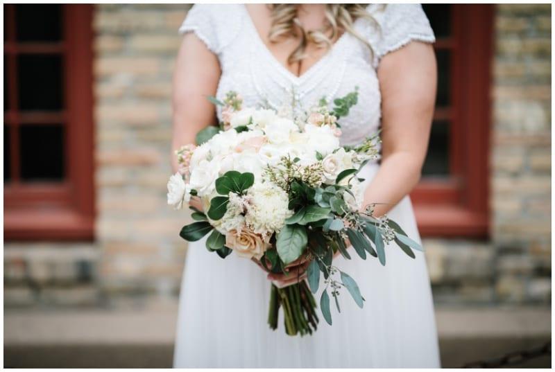 Aster Cafe, Shane Long Photography, Artemisia Studios, wedding florist, summer wedding, Minneapolis florist, Twin Cities wedding florist, summer wedding floral, dog floral collar