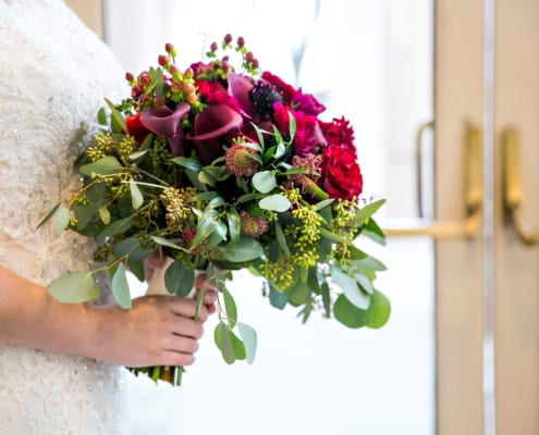 Marriott Southwest Minnetonka, winter wedding, winter flowers, winter floral, Laurie B Photography, red wedding floral, red winter wedding, blush winter wedding, burgundy wedding floral, red flowers, red floral, Artemisia Studios, Minneapolis wedding florist, Minnesota wedding florist