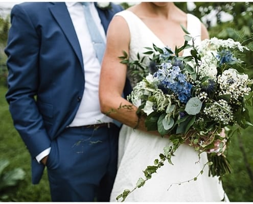 Red Barn Pizza Farm, blue wedding, wedding flowers, farm wedding, Minnesota farm wedding, wedding inspiration, rustic wedding, outdoor wedding, barn wedding, blue and white wedding, floral decor, Minnesota wedding florist, Artemisia Studios, Minneapolis wedding florist