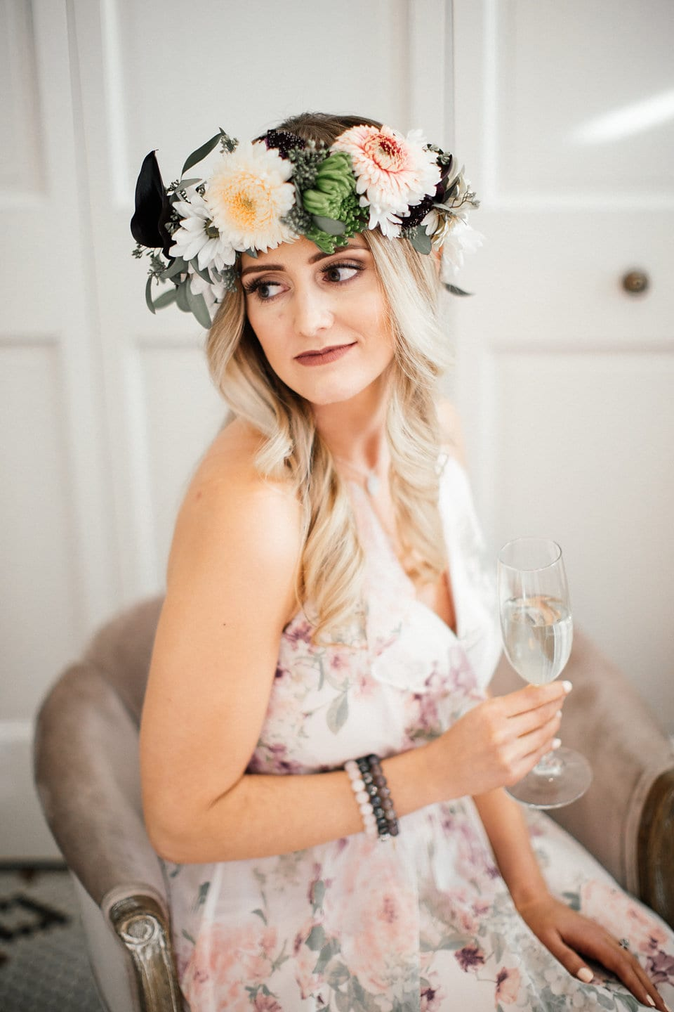 Flow Event Group, Forever Bridal, boho bride, bridal shower, bridal party, bridal brunch, wedding events, wedding inspiration, bride, bride to be, floral crowns, bridal crown, wedding floral, wedding flowers, Artemisia Studios, Minneapolis wedding florist