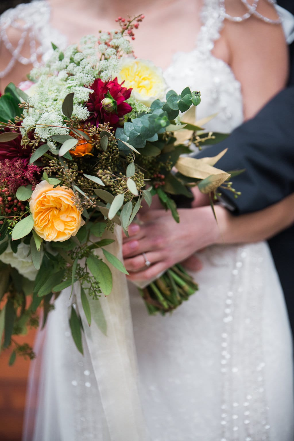 Lindsay Nicole Photography, Lowertown Event Center, wedding, winter wedding, January wedding, red wedding, wedding inspiration, wedding flowers, winter wedding floral, winter wedding flowers, winter wedding inspiration, Saint Paul wedding florist, St. Paul wedding florist, Artemisia Studios