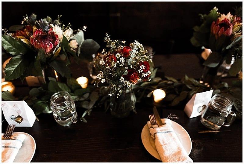 Tandem Tree Photography, The Copper Hen, summer wedding, pink wedding, proteas, wedding flowers, summer wedding floral, Minneapolis wedding, Minneapolis wedding florist, wedding florist, Artemisia Studios, wedding decor, floral decor, wedding inspiration, centerpieces