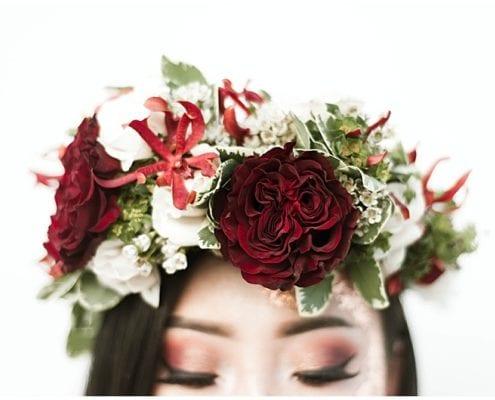 Tinge Photography, flowers, floral, floral crown, wedding crown, floral wreath, bride, bridal hair, bridal look, bridal style, bridal makeup, wedding inspiration, wedding day, wedding look, Artemisia Studios, Minneapolis wedding florist, Minnesota wedding florist, florist