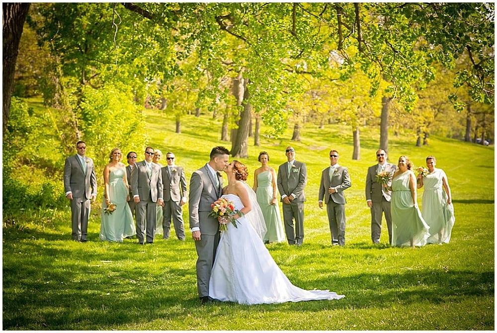 Camelot Photography, spring wedding, Minnesota wedding, wedding, wedding flowers, wedding floral, Minneapolis florist, spring wedding floral, , bridal bouquet, spring bouquet, groom, bride, wedding party, green bridesmaid