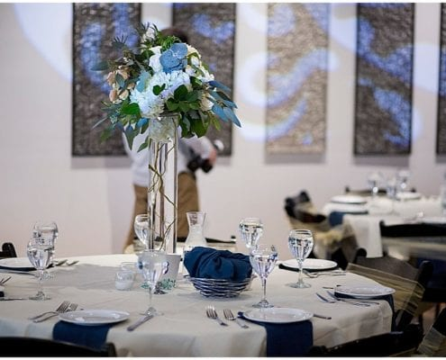 Jess Nolan Photography, Five Event Center Mount Olivet Church, winter wedding, wedding, navy and white wedding, wedding inspiration, wedding floral, winter wedding floral, winter wedding flowers, wedding floral, wedding flowers, wedding reception, floral centerpieces, centerpieces, winter centerpieces