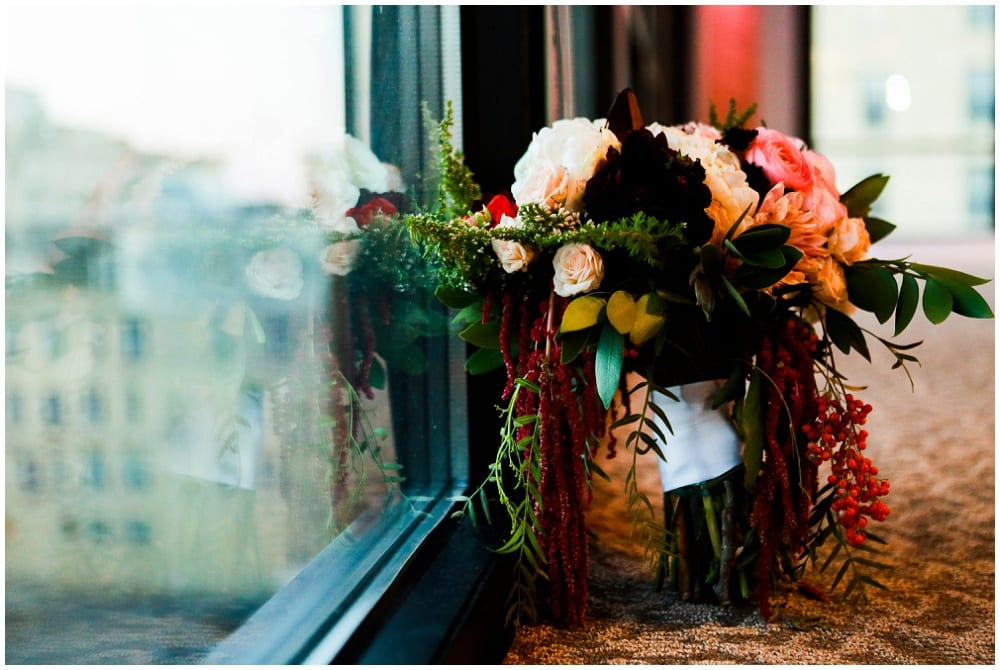 Hannah Schmitt Photography, A'BULAE, Saint Paul wedding, Minnesota wedding, burgundy wedding, winter wedding, Minnesota winter wedding, winter floral, winter wedding decor, Artemisia Studios, Minneapolis wedding florist
