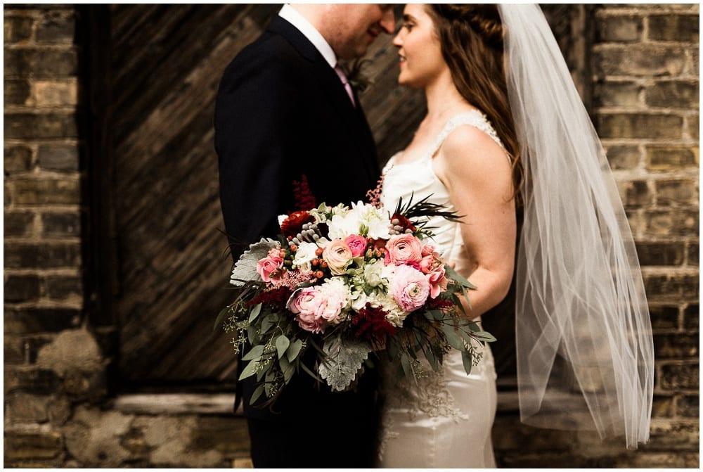 Tandem Tree Photography, Minnesota History Center, wedding, wedding floral, wedding flowers, Minnesota wedding florist, wedding florist, wedding floral arrangements, Minnesota wedding, bride, bridal bouquet, burgundy wedding, burgundy bouquet, pink bouquet, bride, groom