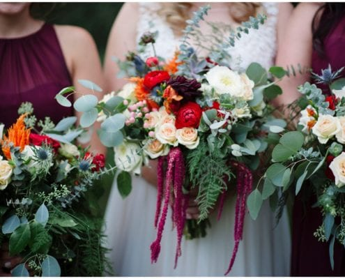Tiffany Bolk Photography, Minnesota Landscape Arboretum, fall wedding, wedding floral, wedding flowers, Minneapolis wedding florist, Artemisia Studios, Minnesota florist, bridesmaids, burgundy bridesmaids, bridesmaid bouquet, fall bridesmaids