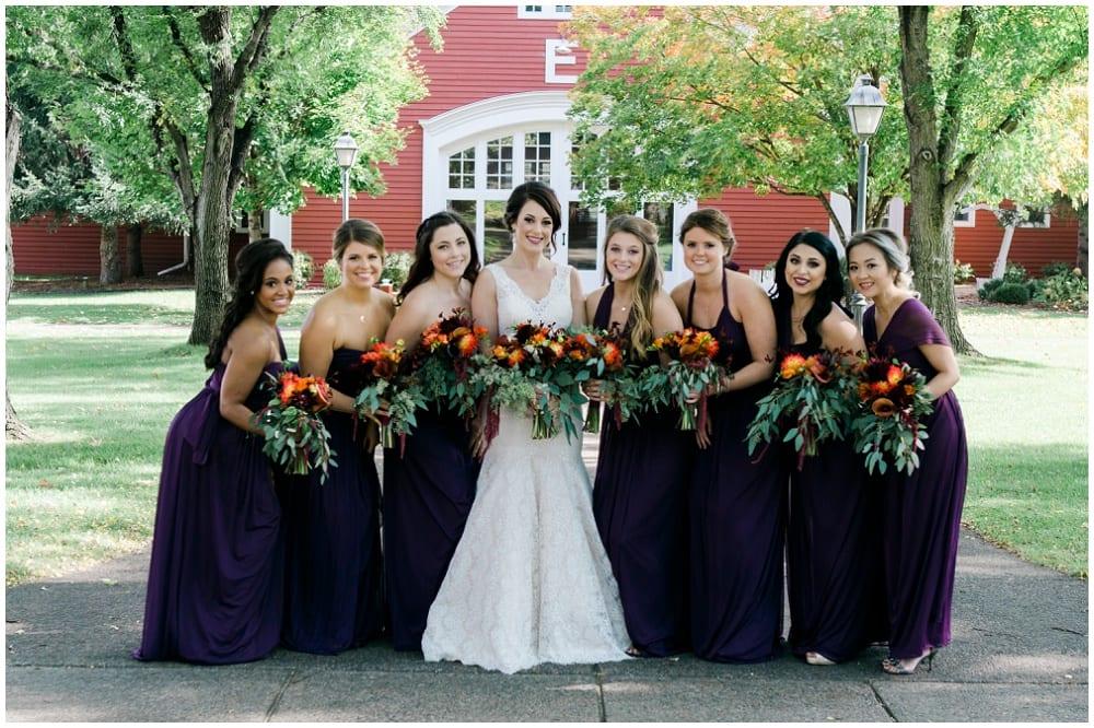 Jill Johnson Photography, Earle Brown Heritage Center, fall wedding, Minneapolis wedding, fall wedding floral, wedding floral, wedding flowers, fall flowers, bride, bridal bouquet, bridesmaids, bridesmaids bouquets