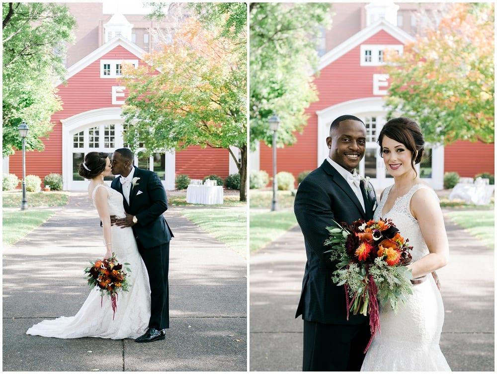 Jill Johnson Photography, Earle Brown Heritage Center, fall wedding, Minneapolis wedding, fall wedding floral, wedding floral, wedding flowers, fall flowers, bridal bouquet, boutonniere, bride, groom