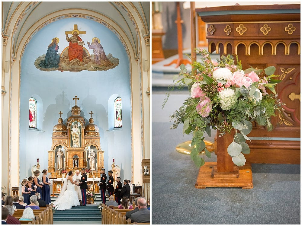church wedding, Waconia wedding, Minnesota wedding, altar decor, flowers, floral, wedding decor