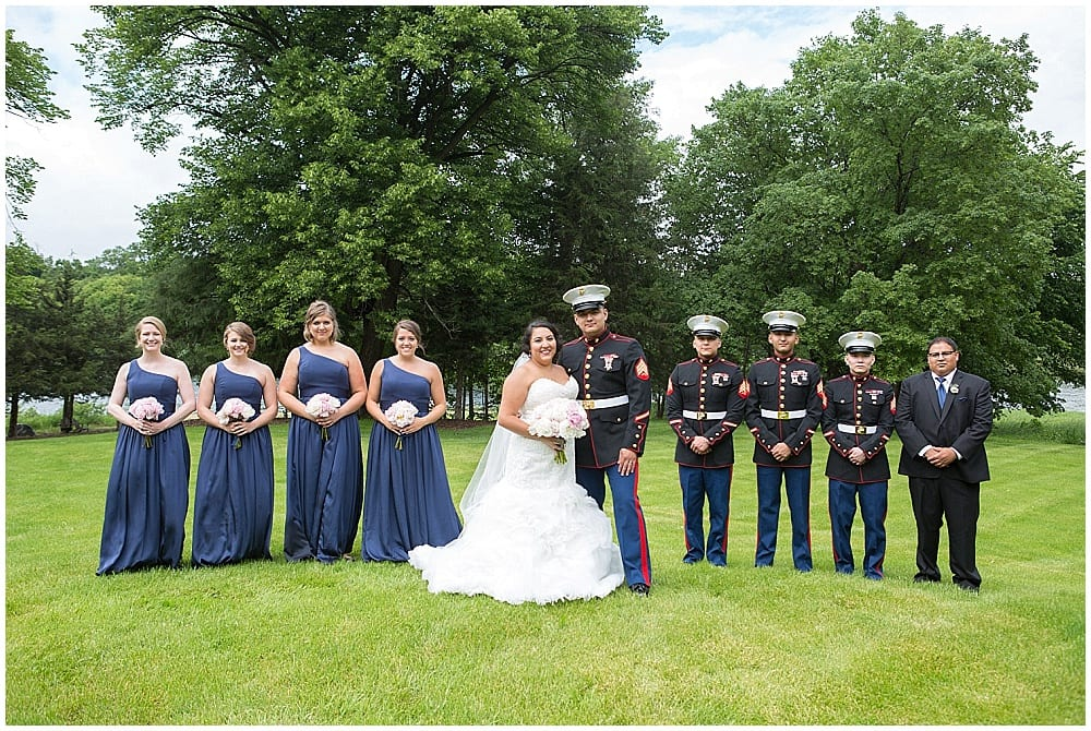 bridal party, bridesmaids, groomsmen, groom, bride, military wedding, Waconia wedding, flowers, floral, bridesmaids bouquets, bridal bouquet, Minneapolis florist