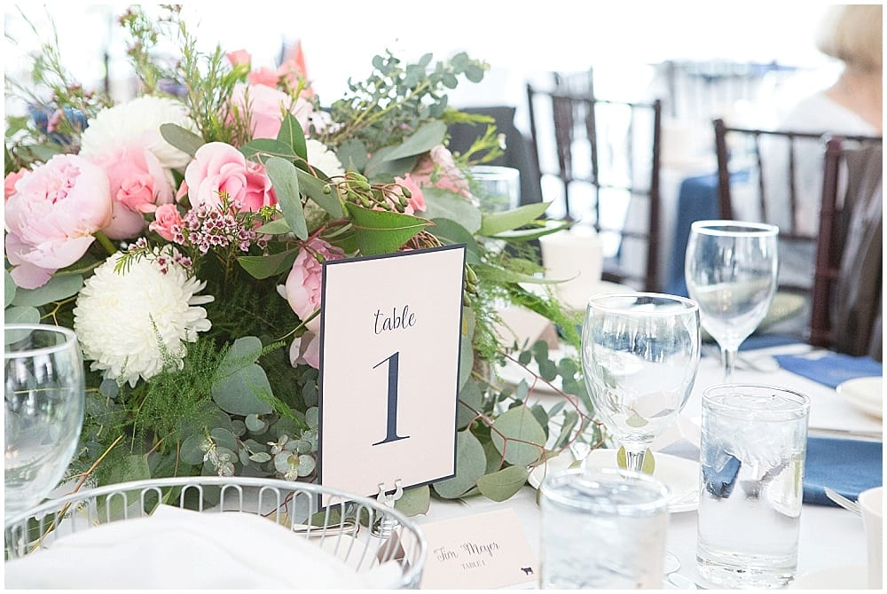 Sovereign Winery, wedding, wedding reception, centerpieces, flowers, floral, wedding decor, wedding inspiration, candles, table numbers, Minnesota wedding, florist, Minneapolis florist