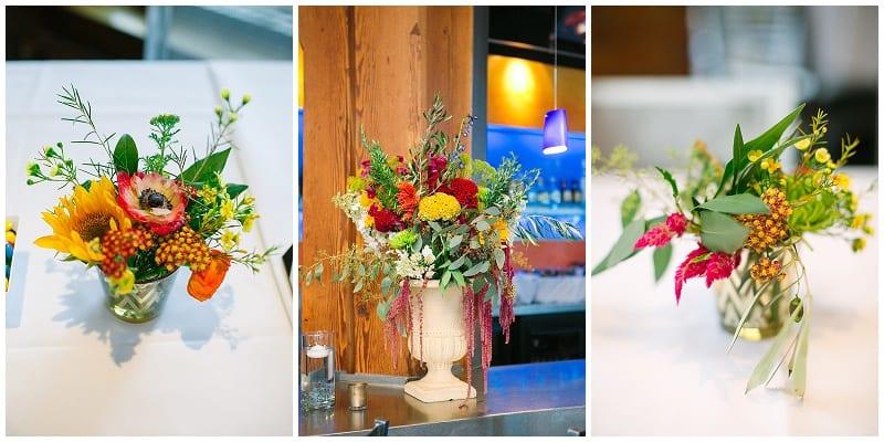 Vic's Dining, wedding, reception, flowers, floral, summer flowers, summer wedding