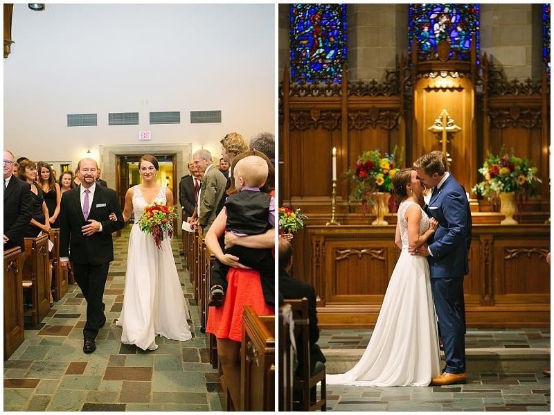 church wedding, wedding, wedding ceremony, westminster presbyterian church, flowers, floral