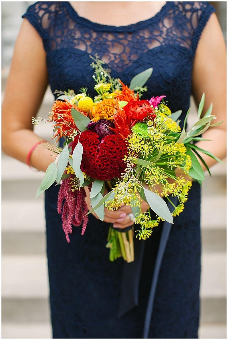 westminster presbyterian church, bridesmaid bouquet, flowers, floral, summer wedding, wedding flowers, summer flowers, bright flowers
