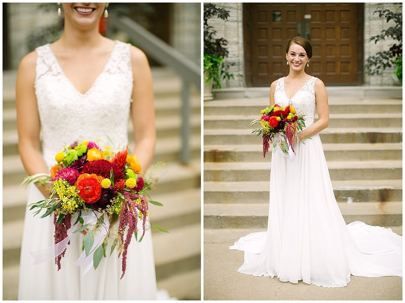 Westminster Presbyterian Church, bride, bridal bouquet, Electric Lime Photography, bright flowers, summer flowers