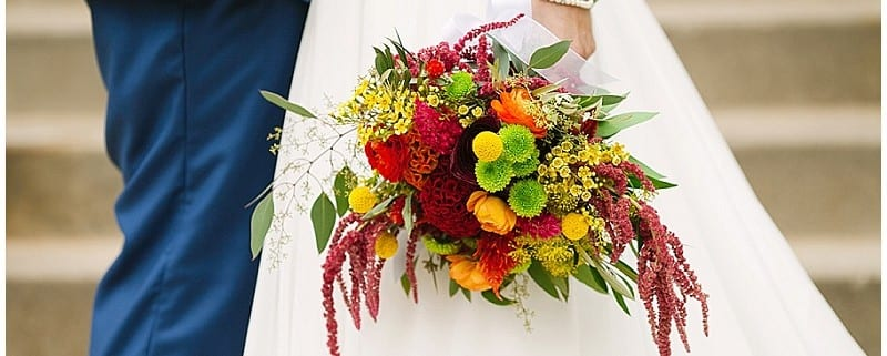 Westminster Presbyterian Church, bride, groom, portraits, wedding, flowers, summer flowers, warm flowers, summer wedding