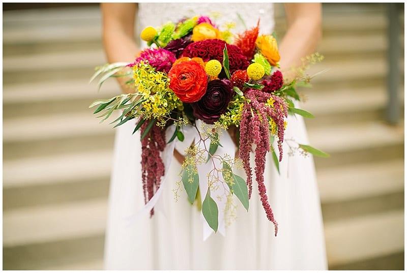 Westminster Presbyterian Church, flowers, bride, bridal bouquet, summer wedding, summer flowers, warm flowers, wedding