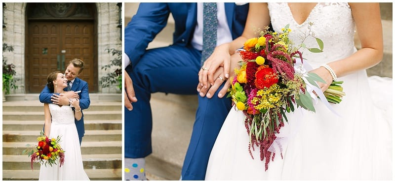 Westminster Presbyterian Church, Electric Lime Photography, flowers, bright flowers, summer flowers, wedding, bride, groom, navy suit
