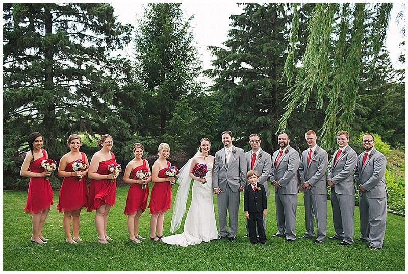 Olympic Hills Golf Club, weddings, red bridesmaids dresses, bridal bouquet, bridesmaids bouquets
