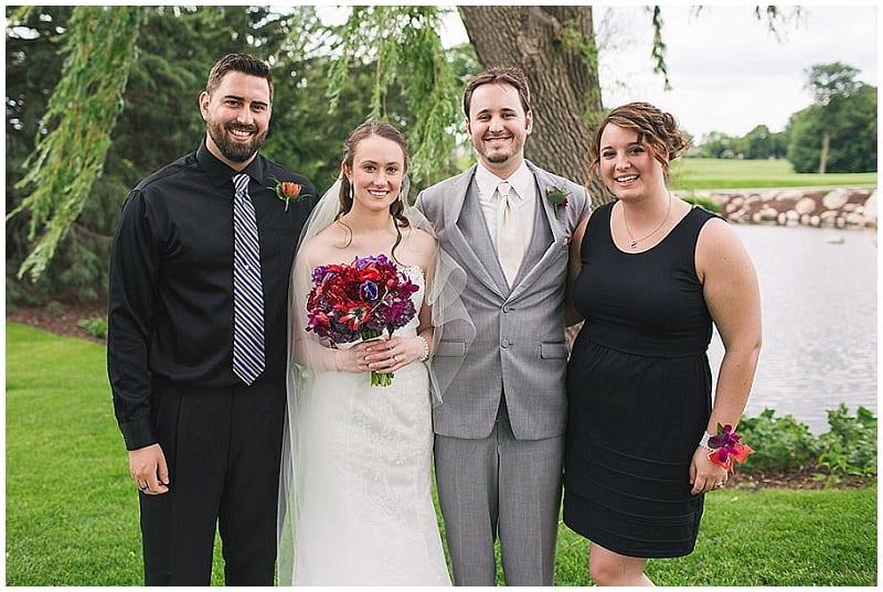 Olympic Hills Golf Club, bridal bouquet, bride, groom, corsage, boutonniere