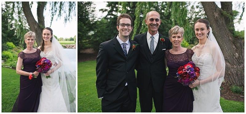 Olympic Hills Golf Club, wedding, boutonniere, corsage, family portraits