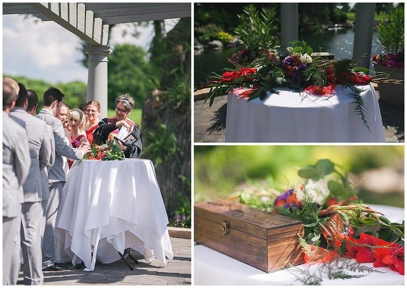 Olympic Hills Golf Club, floral arrangement, flowers, floral, wedding, first fight box