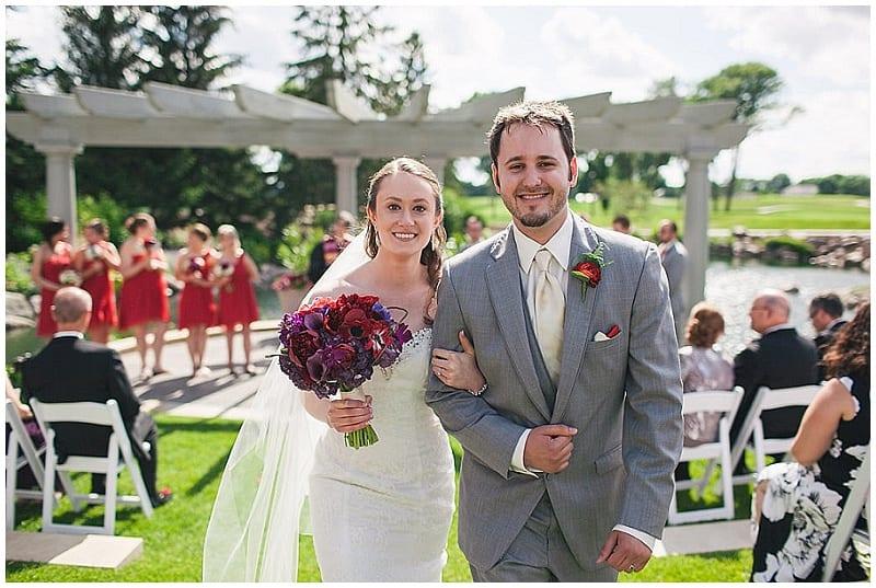 Olympic Hills Golf Club, bride, groom, ceremony, wedding, outdoor ceremony