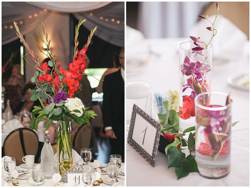 Olympic Hills Golf Club, centerpieces, weddings, flowers, floral, vases, tall centerpieces, reception