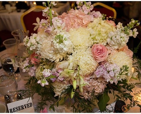Grand banquet Hall, Stillwater wedding, Andrew samplawski Photography, centerpieces, flowers, floral centerpieces, reception, wedding decor