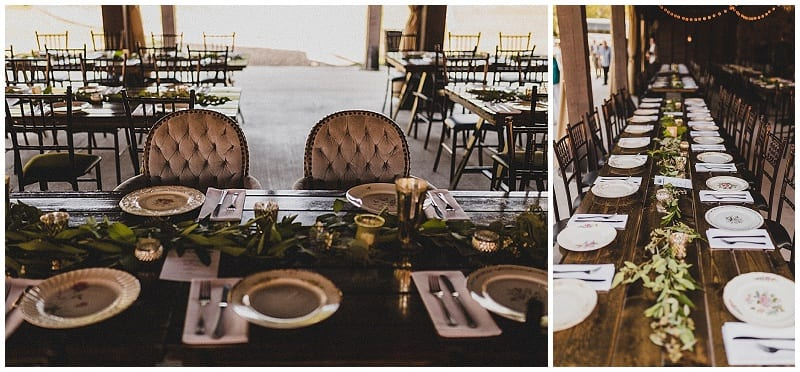 View More: http://julesandcait.pass.us/kaylalincoln Hope Glen Farm, wedding, reception, garland, flowers, head table, chairs