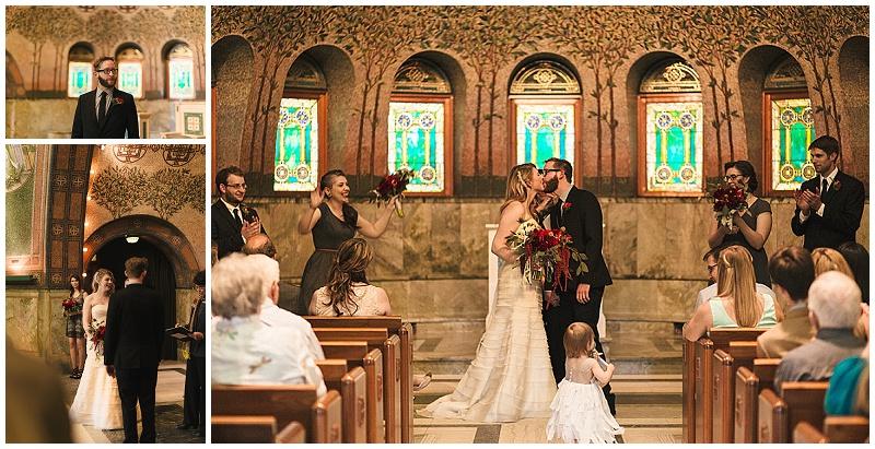 Jules + Cait Photography, Lakewood Cemetery Memorial Chapel, Lakewood Cemetery Chapel, bride, groom, ceremony, wedding