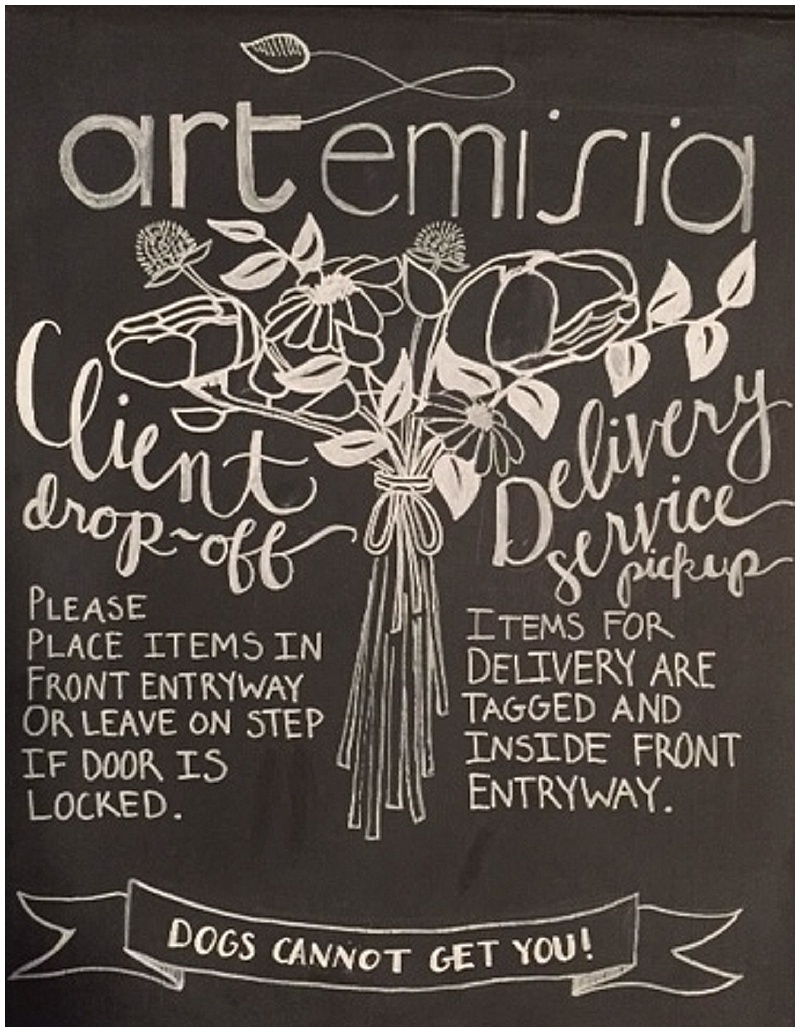 Artemisia Studios, Molly, Calligraphy, Minneapolis calligrapher, wedding signs, chalkboard signs, wedding invitations, handwriting, design