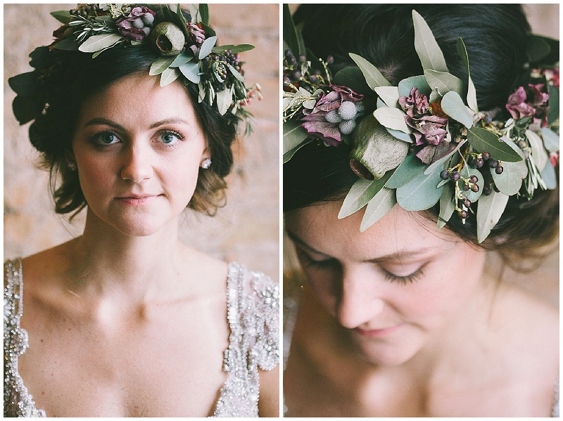 J.Louise Photography, Rachel Marie Photograpie, Aster Cafe, Aster Cafe styled shoot, Artemisia Studios, bride, bridal hair, bridal style, bridal look, hair wreath, bridal hair wreath, floral hair wreath