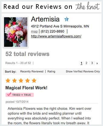Wedding Florist reviews the knot
