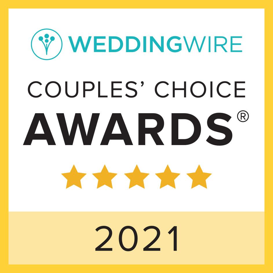 Wedding Wire couples choice award 2021